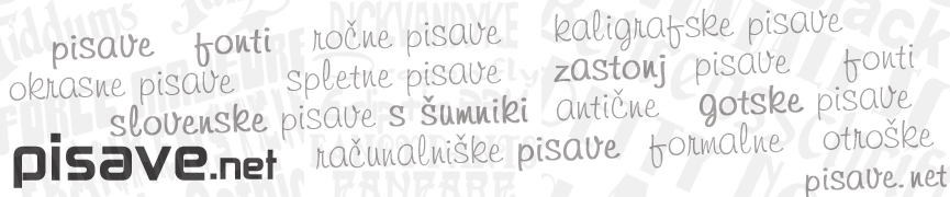 Slovenske pisave s šumniki!